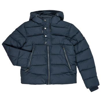 Ruhák Fiú Steppelt kabátok Teddy Smith OVER Tengerész