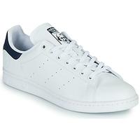Cipők Rövid szárú edzőcipők adidas Originals STAN SMITH VEGAN Fehér / Kék