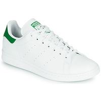 Cipők Rövid szárú edzőcipők adidas Originals STAN SMITH VEGAN Fehér / Zöld