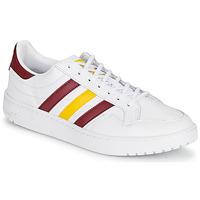 Cipők Rövid szárú edzőcipők adidas Originals TEAM COURT Fehér / Bordó / Citromsárga