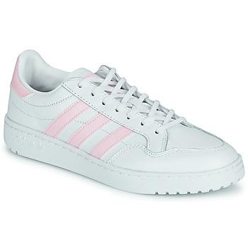 Cipők Női Rövid szárú edzőcipők adidas Originals TEAM COURT W Fehér / Rózsaszín