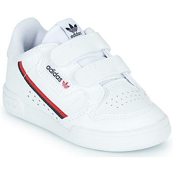 Cipők Gyerek Rövid szárú edzőcipők adidas Originals CONTINENTAL 80 CF I Fehér