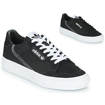 Cipők Gyerek Rövid szárú edzőcipők adidas Originals CONTINENTAL VULC J Fekete