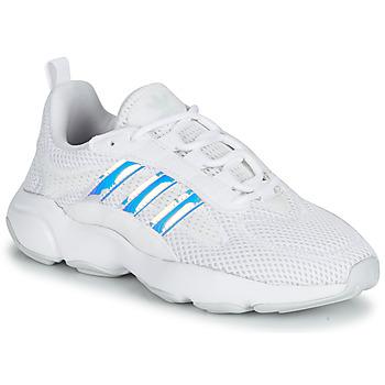 Cipők Lány Rövid szárú edzőcipők adidas Originals HAIWEE J Fehér / Irizáló