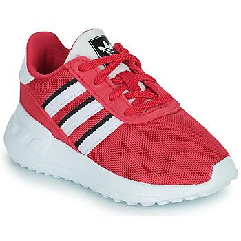 Cipők Lány Rövid szárú edzőcipők adidas Originals LA TRAINER LITE EL Rózsaszín