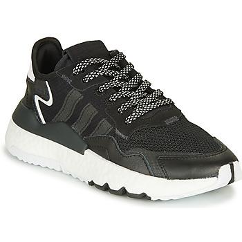 Cipők Gyerek Rövid szárú edzőcipők adidas Originals NITE JOGGER J Fekete
