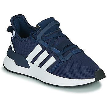 Cipők Fiú Rövid szárú edzőcipők adidas Originals U_PATH RUN J Tengerész / Fehér