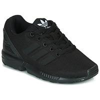 Cipők Gyerek Rövid szárú edzőcipők adidas Originals ZX FLUX C Fekete