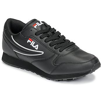 Cipők Férfi Rövid szárú edzőcipők Fila ORBIT LOW Fekete