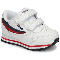 Cipők Gyerek Rövid szárú edzőcipők Fila ORBIT VELCRO INFANTS Fehér / Kék