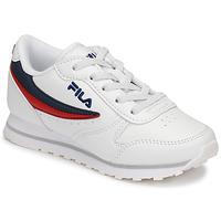 Cipők Gyerek Rövid szárú edzőcipők Fila ORBIT LOW KIDS Fehér / Kék