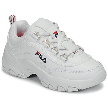 Cipők Lány Rövid szárú edzőcipők Fila STRADA LOW KIDS Fehér