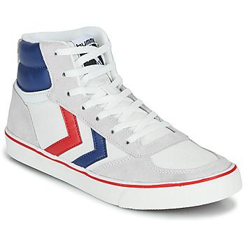 Cipők Magas szárú edzőcipők Hummel STADIL HIGH OGC 3.0 Fehér / Kék / Piros