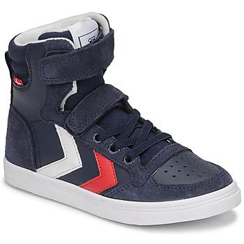 Cipők Gyerek Magas szárú edzőcipők Hummel SLIMMER STADIL HIGH JR Kék