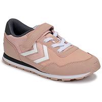 Cipők Lány Rövid szárú edzőcipők Hummel REFLEX JR Rózsaszín