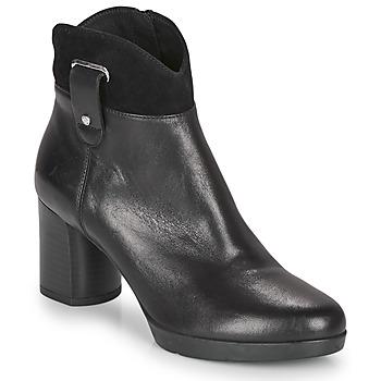 Cipők Női Bokacsizmák Geox ANYLLA MID Fekete