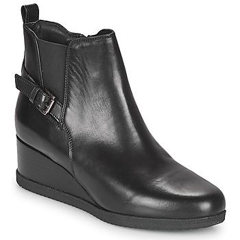 Cipők Női Bokacsizmák Geox ANYLLA WEDGE Fekete