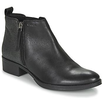 Cipők Női Bokacsizmák Geox LACEYIN Fekete  / Ezüst