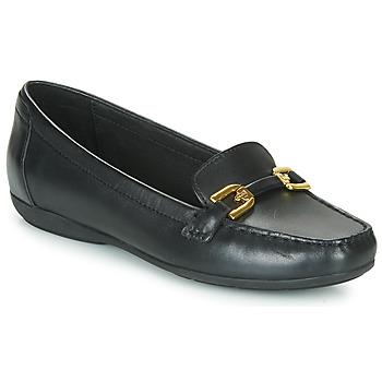 Cipők Női Mokkaszínek Geox ANNYTAH MOC Fekete
