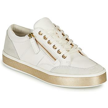 Cipők Női Rövid szárú edzőcipők Geox LEELU Fehér
