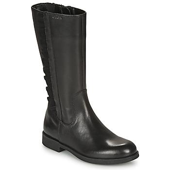 Cipők Lány Városi csizmák Geox AGGATA Fekete