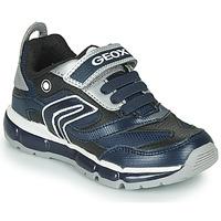 Cipők Fiú Rövid szárú edzőcipők Geox ANDROID Tengerész / Ezüst