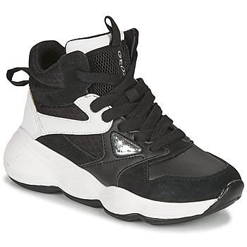 Cipők Lány Magas szárú edzőcipők Geox BUBBLEX Fekete  / Fehér
