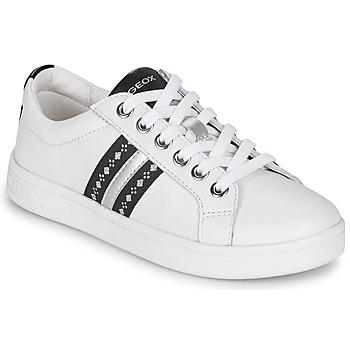 Cipők Lány Rövid szárú edzőcipők Geox DJROCK Fehér