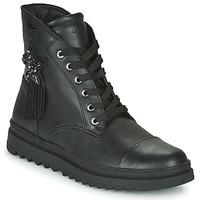 Cipők Lány Csizmák Geox GILLYJAW Fekete