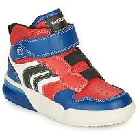Cipők Fiú Magas szárú edzőcipők Geox GRAYJAY Piros / Kék