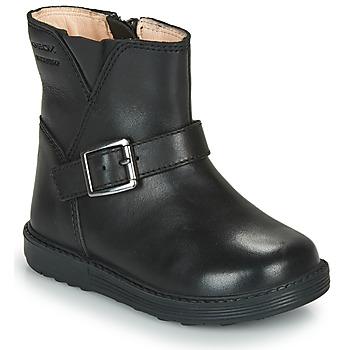 Cipők Lány Városi csizmák Geox HYNDE WPF Fekete