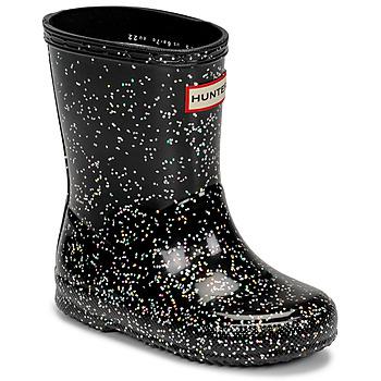 Cipők Lány Gumicsizmák Hunter KIDS FIRST CLASSIC GLITTER Fekete