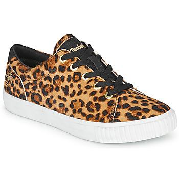 Cipők Női Rövid szárú edzőcipők Timberland SKYLA BAY LEATHER OXFORD Leopárd
