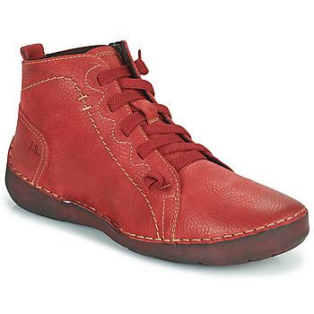 Cipők Női Magas szárú edzőcipők Josef Seibel FERGEY 86 Piros