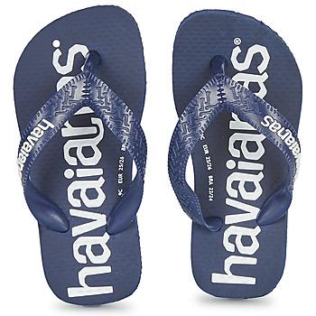 Cipők Fiú Lábujjközös papucsok Havaianas Top Logomania Tengerész