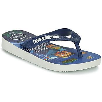 Cipők Fiú Lábujjközös papucsok Havaianas KIDS MINECRAFT Kék