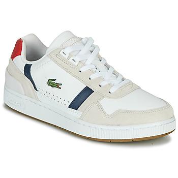 Cipők Női Rövid szárú edzőcipők Lacoste T-CLIP 0120 2 SFA Fehér / Tengerész / Piros