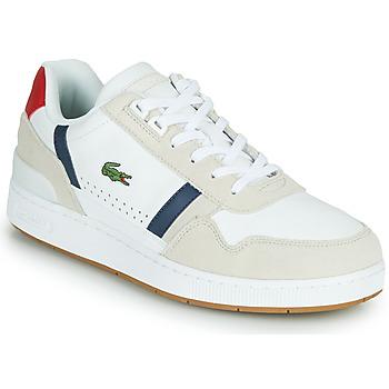 Cipők Férfi Rövid szárú edzőcipők Lacoste T-CLIP 0120 2 SMA Fehér / Tengerész / Piros