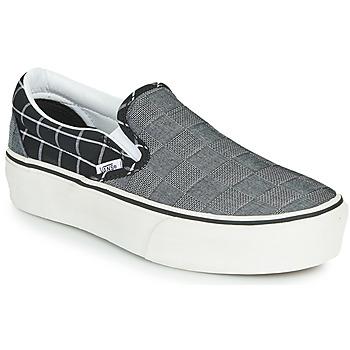 Cipők Női Belebújós cipők Vans Classic Slip-On Platform Szürke