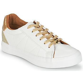 Cipők Női Rövid szárú edzőcipők Le Temps des Cerises VIC Fehér / Arany