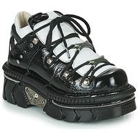 Cipők Női Rövid szárú edzőcipők New Rock M-106N-S76 Fekete  / Fehér