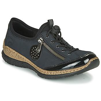 Cipők Női Oxford cipők Rieker N3268-01 Kék / Fekete