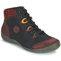 Cipők Női Csizmák Rieker 52513-36 Fekete  / Bordó