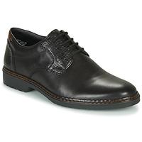 Cipők Férfi Oxford cipők Rieker 16541-02 Fekete