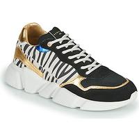 Cipők Női Rövid szárú edzőcipők Serafini OREGON Fekete  / Fehér / Arany
