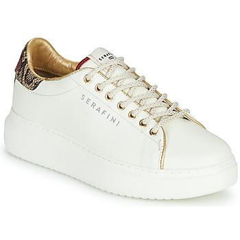 Cipők Női Rövid szárú edzőcipők Serafini J.CONNORS Fehér / Piton