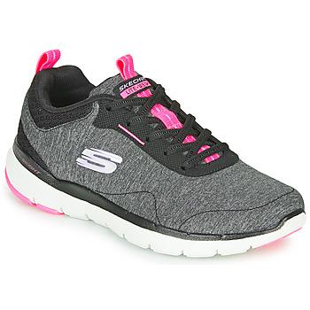 Cipők Női Fitnesz Skechers FLEX APPEAL 3.0 Szürke / Fekete  / Rózsaszín