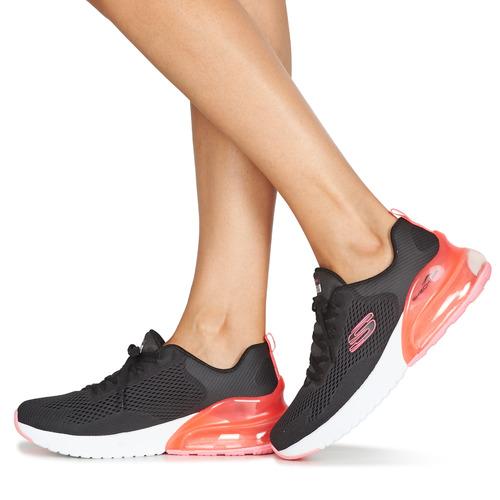 Skechers SKECH-AIR Fekete / Rózsaszín - Ingyenes Kiszállítás  Cipők Rövid szárú edzőcipők Noi 28 349 Ft hFGUj