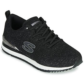 Cipők Női Rövid szárú edzőcipők Skechers SUNLITE Fekete