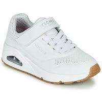 Cipők Gyerek Rövid szárú edzőcipők Skechers UNO Fehér